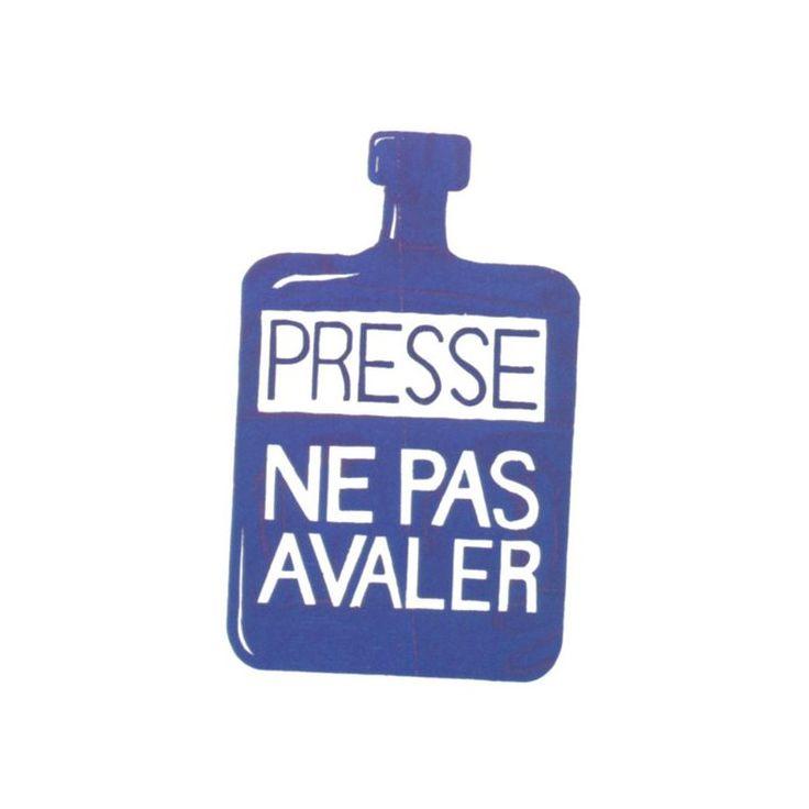 Badge Presse ne pas avaler (une affiche de Mai 68) - La Boutique Militante