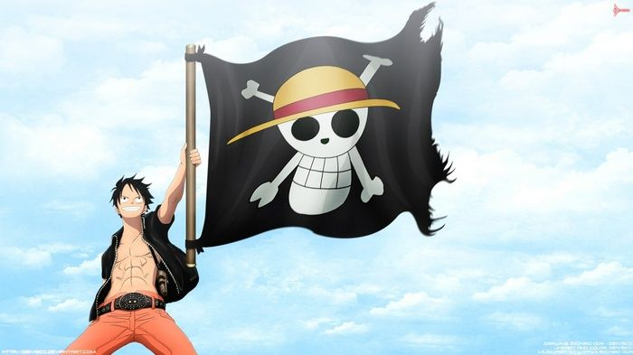 Pirate Flag One Piece Monkey D Luffy Jolly Roger Straw Hat Pirates Wallpaper One Piece Luffy One Piece Anime Monkey D Luffy