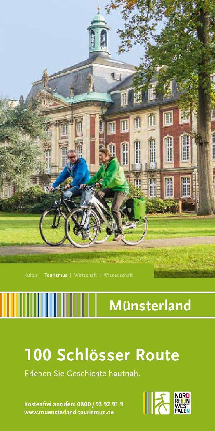 Katalog 100 Schlösser Route Münsterland  Die 100 Schlösser Route gehört zu den schönsten Radtouren in Deutschland. Im Katalog zur 100 Schlösser Route sind alle Infos zum Radweg, Radreisen, Service-Stellen, Übernachten und Veranstaltungen enthalten.