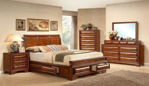 Harwich Manor Four Piece King Bedroom Set From Huffman