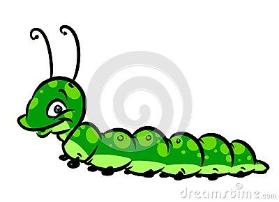 Green caterpillar cartoon illustration isolated image character  insect