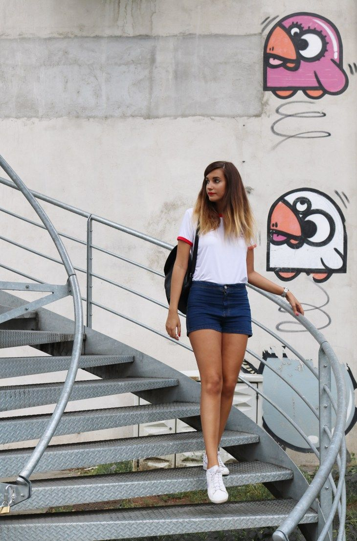 Look de rentrée slogan t-shirt  http://alittledaisyblog.com/look-highschool-crush-slogan-tee/