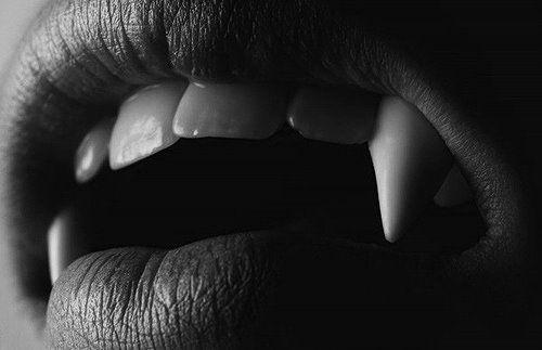 scary creep dark vampire goth gothic fangs dark art vampire fangs ...