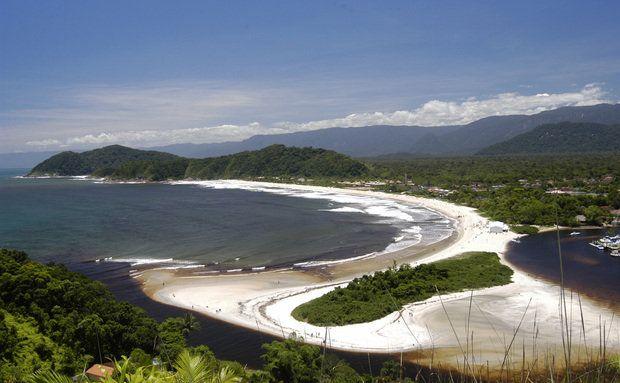Vista aérea da Barra do Una, São Sebastião (SP)