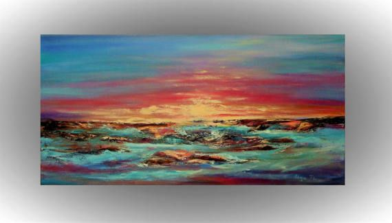 Pintura abstracta regalos únicos de Dama de honor Don Marina