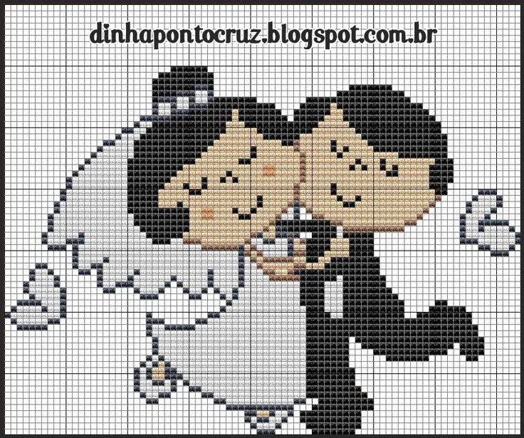Cute bride and groom