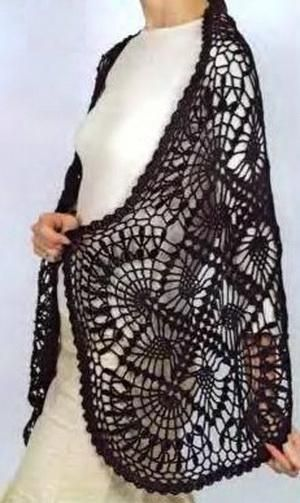 images about crochet shawlponcho-scarf free pattern on