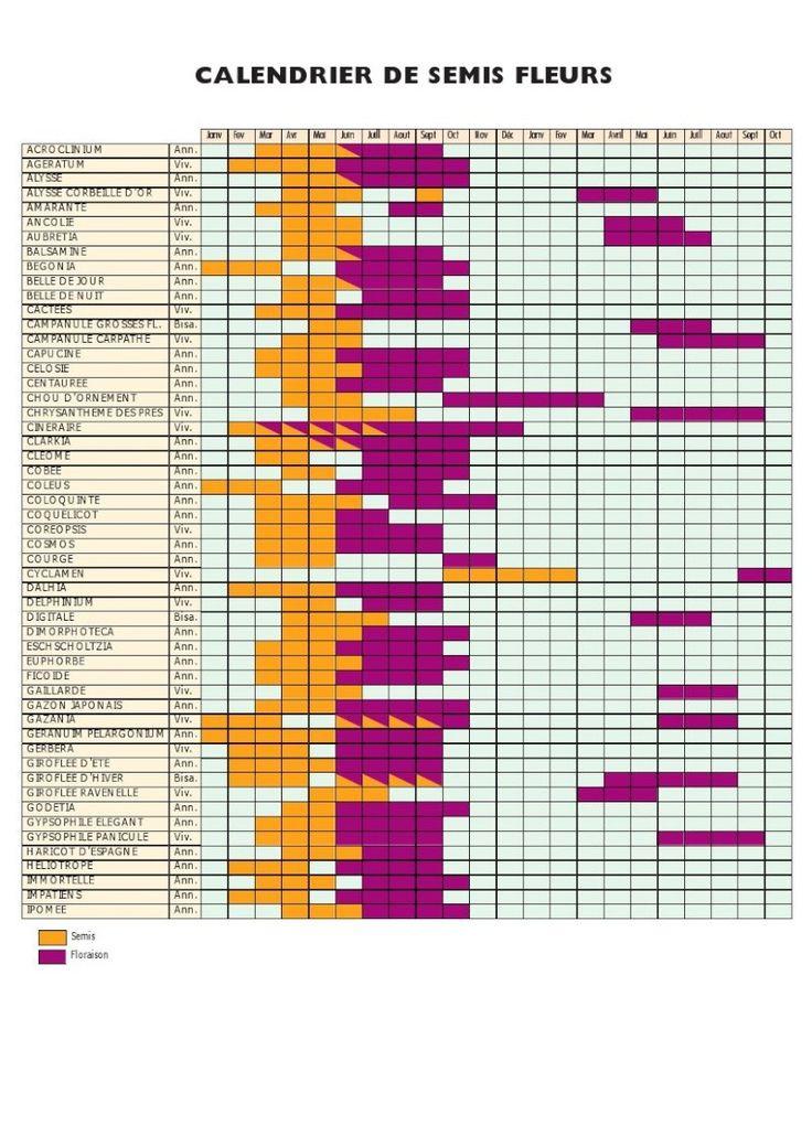 Plus de 25 des meilleures id es de la cat gorie calendrier for Calendrier plantation jardin