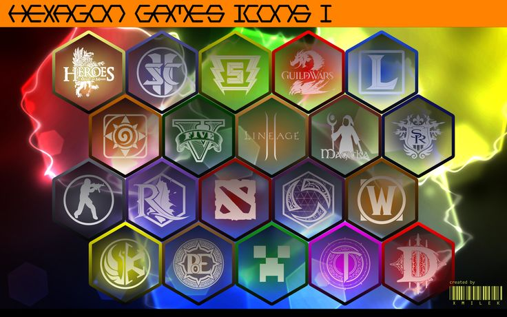 Hexagon Games Icons vol. 1 by xmilek.deviantart.com on @deviantART