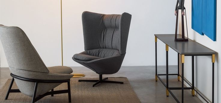 The Ladle family of armchairs casts a contemporary light on the style, feeling and comfort of classic armchairs of the 1960s. Although each chair features the same soft and spoon-like seat structure, they can each be customised with three different backrests and the same number of legs. The chairs are available in wooden, tube metal or four-spoke swivel and tilt versions. The Ladle family includes small, medium and large variants, and is able to suit spaces of all sizes.