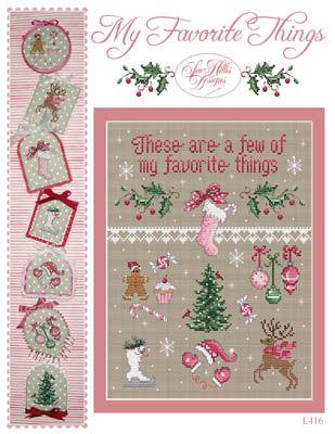 My Favorite Things da Sue Hillis Designs - Schemi Punto Croce - Ricamo - Casa Cenina