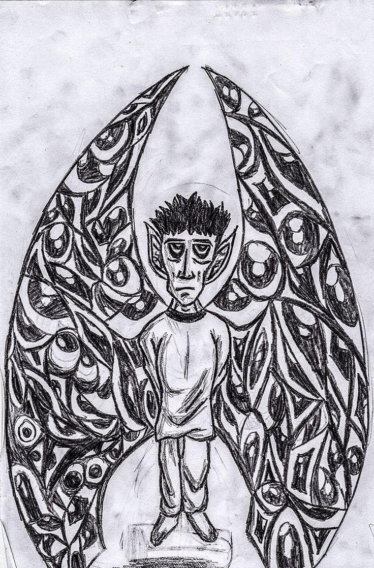 Boceto hecho a lápiz.