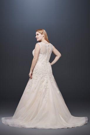 4114a9501115 Cap Sleeve Tulle Plus Size Mermaid Wedding Dress Style 4XL9WG3911 ...