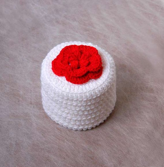 Red Rose Crochet Toilet Paper Cover Cottage Style by NutmegCottage on Etsy