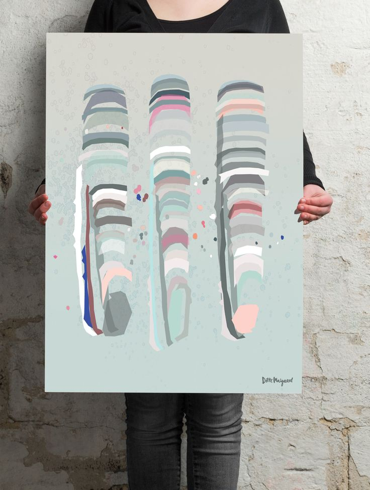 Ditte Maigaard -  Razor Clams PrintCut out elements that together forms 3 razor clams ……… 50 x 70 cm ……… www.dittemaigaard.com