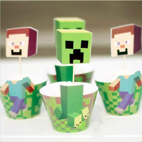 Classic Minecraft Paper Cupcake Wrappers Decorating Boxes Baking Cake Cups With Toppers Picks For Kids Xmas Birthday Party Decoration Cupcake Cupcake Cupcake Fairy Cake From Bestsellingwu, $2.31| Dhgate.Com