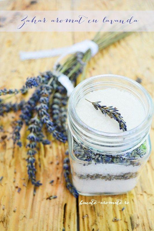 Zahăr aromat cu lavandă