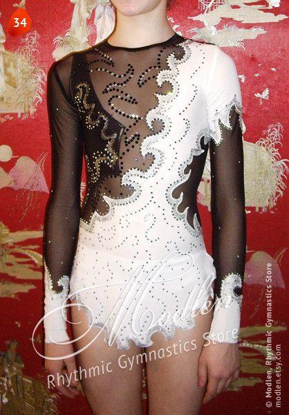 Black & White costume leotard