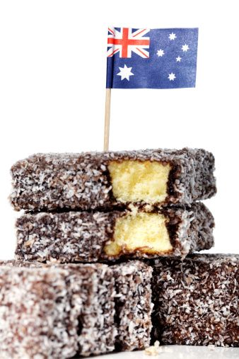 Australian flag and lamingtons  Photographer: David Freund