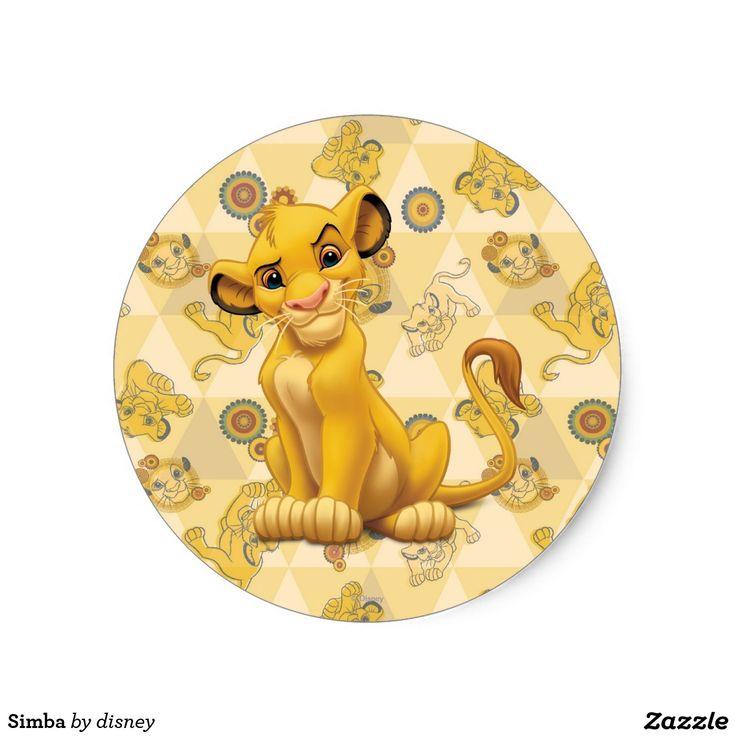 Simba classic round sticker