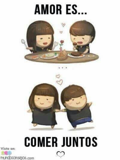 Amor es, comer juntos