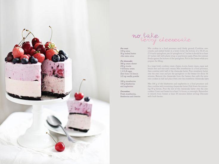 call me cupcake No-bake berry cheesecake