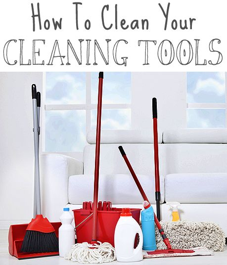 Think about it! Our mops, brooms, sponges, etc. get a WORKOUT! Here are some ideas for keeping your cleaning tools clean and hygienic!