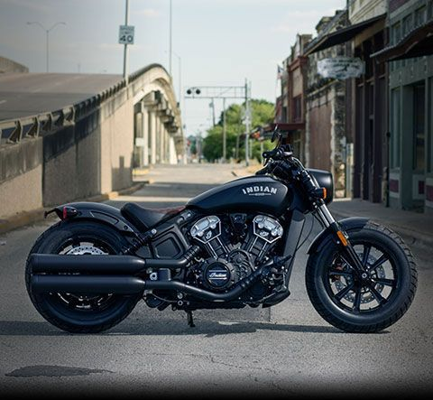 2018 Indian Scout Bobber Motorcycle - Thunder Black