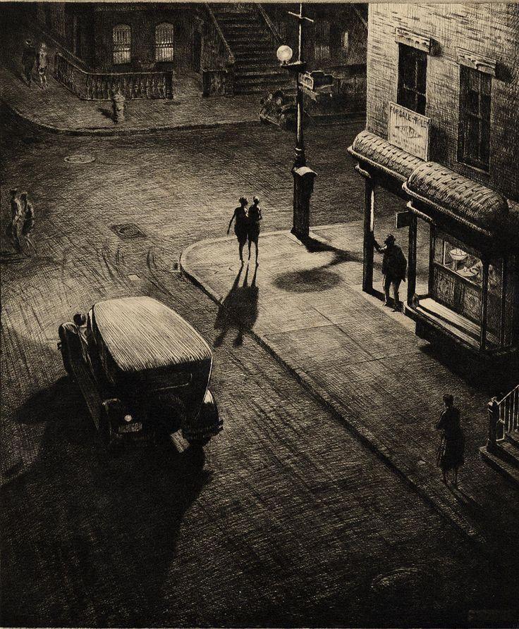 Martin Lewis - Relics, speakeasy corner, 1928