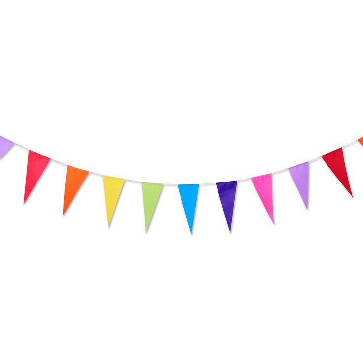 Η συσκευασία περιέχει 50 δεμένα μεταξύ τους σημαιάκια διαφόρων χρωμάτων, μήκους 10 μέτρων.    *ΠΡΟΣΟΧΗ! Δεν είναι κατάλληλο για παιδιά κάτω των 3 ετών.