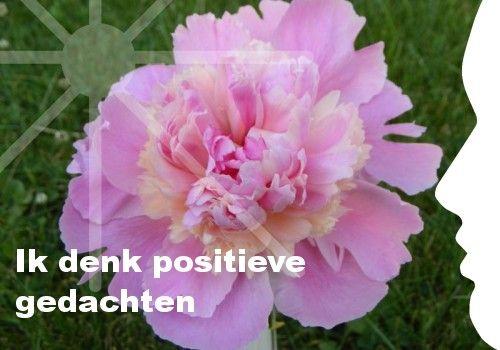 Mijn inspiratie: Ik denk positieve gedachten