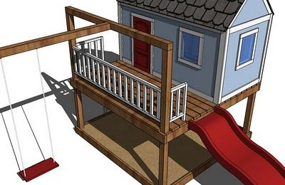 Contains plans for the whole thing. Playhouse, Sandpit, Deck, Swing Set!