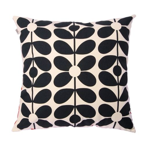 Orla Kiely 60s Stem Cushion Cover Poppy Orange Blue Cushions Pinterest And