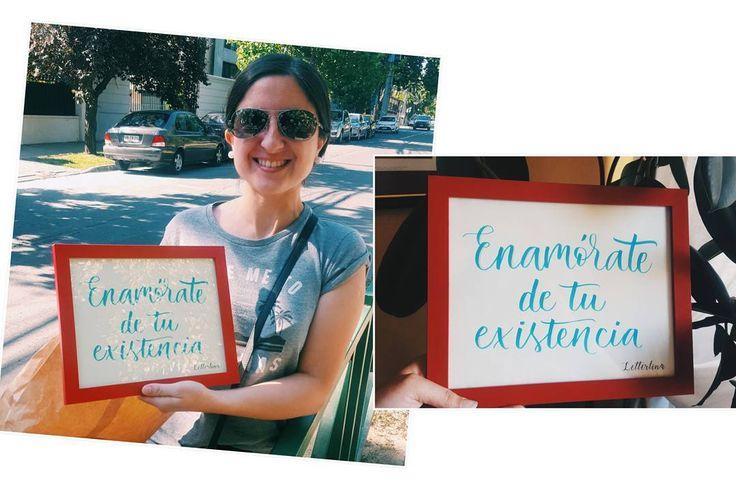 La ganadora del sorteo Sandra @sandris212 con su #Letterlina  Felicitaciones!. #handwriting #lettering #calligraphy #waterbrush #brushpen #gansaitambiwatercolor #madewithlove #handmade #hechoamano #hechoamanoconamor