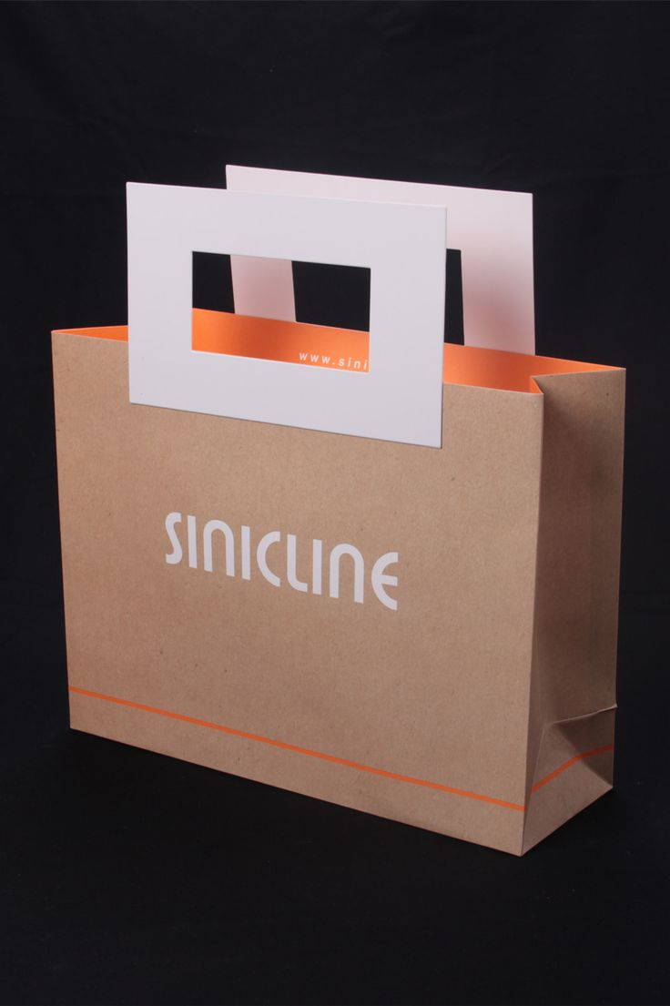 Kraft paper bag with handles #shoppingbag #kraftpaperbag #bagdesign Browse more at @sinicline