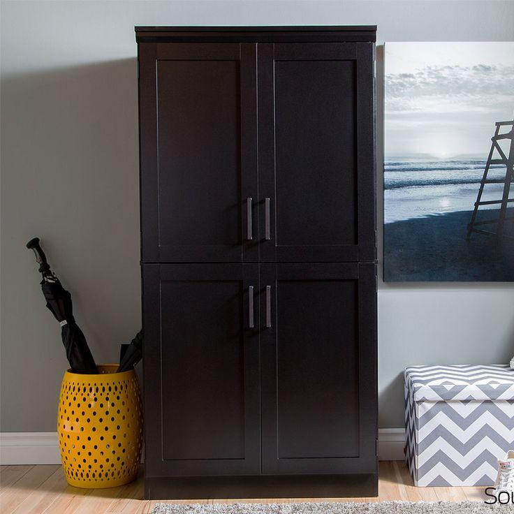 Wonderful Wardrobe Closet Armoire Clothes Organizer Wood Cabinet Black Bedroom Dresser  NEW