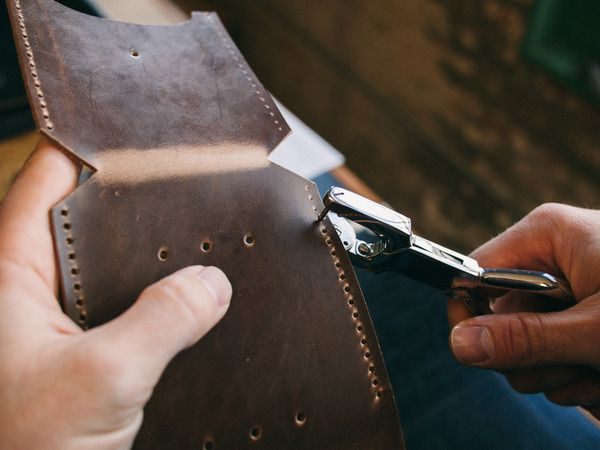 How to: Make a Custom Leather Case for Anything | Man Made DIY | Crafts for Men | Keywords: sewing, DIY, leather, camping