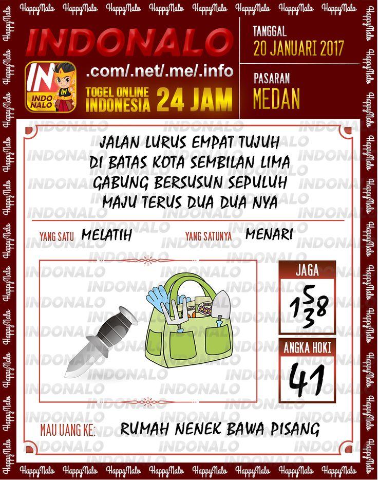 Nomer Hoki 4D Togel Wap Online Live Draw 4D Indonalo Medan 20 Januari 2017