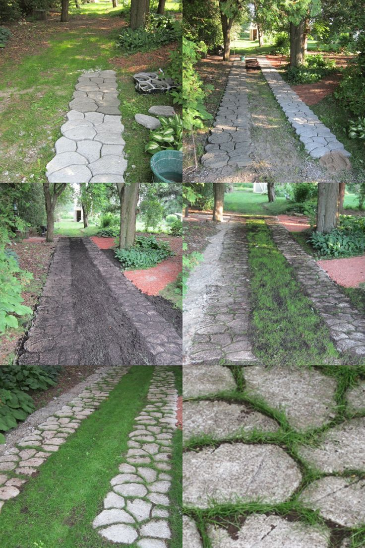 Making a double pathway with concrete cement pathmate