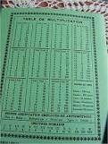 Les cahiers avec les tables de multiplication au dos - Enfance