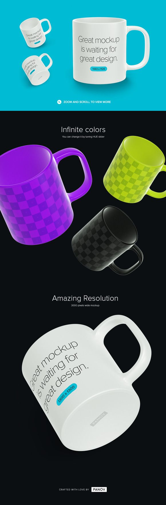Coffee Mug Mockup by PANOV on @creativemarket