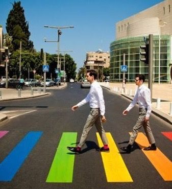 Rainbow Crosswalk. 2012 - Tel Aviv Gay Pride Parade. Top 9 Gay Friendly Spots in Tel Aviv on TheCultureTrip.com. Click the image to read the article.