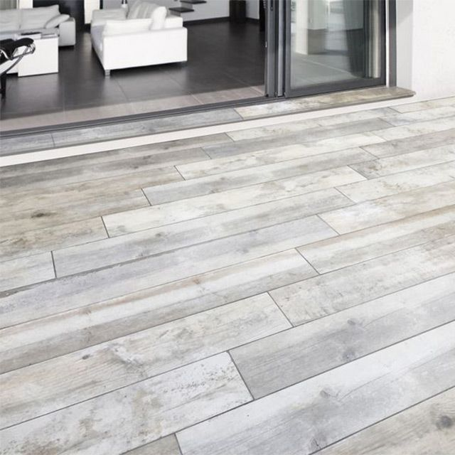 Carrelage terrasse gris 20 x 120 cm Rewood - CASTORAMA