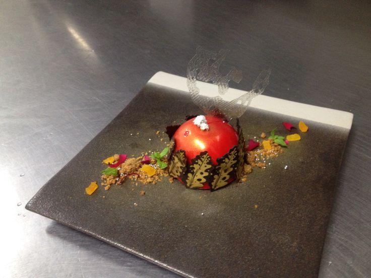 strawberry semi sphere