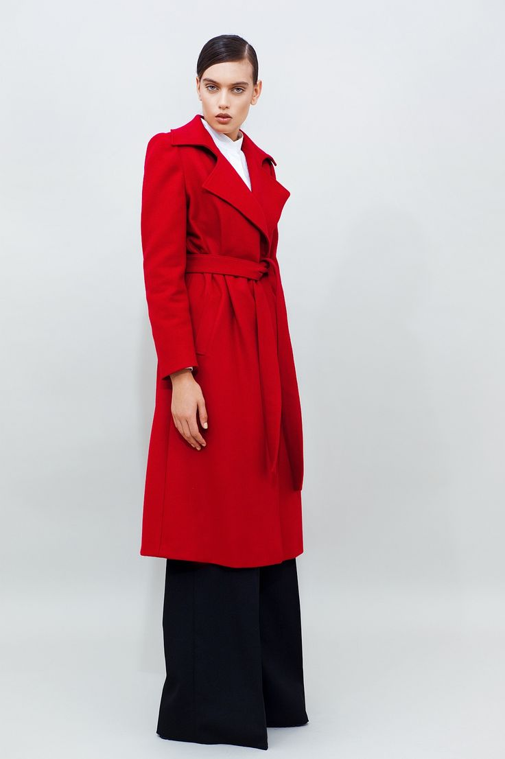 Belted Wool Coat - chemistry