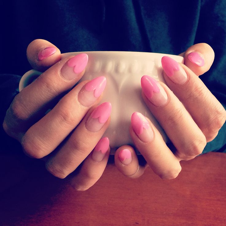 Pink heart nails Nail art