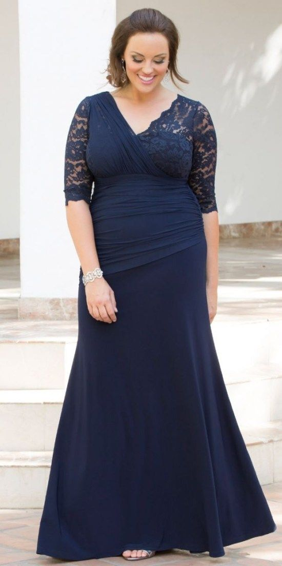 Plus Size Dresses To Wear To A Wedding With Sleeves 31