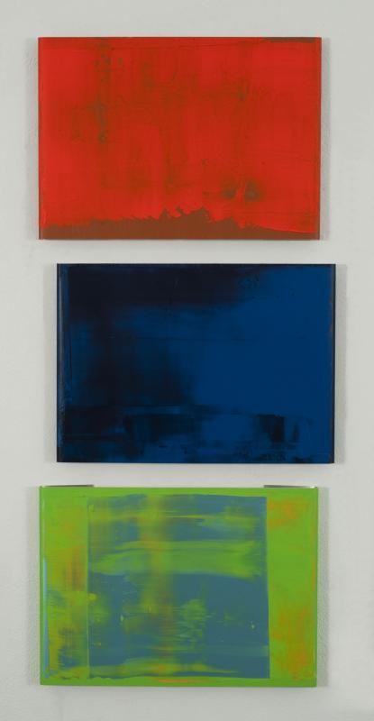 Pedro Calapez, Bareirra E (2012), acryl op aluminium, 67 x 71 x 4 cm
