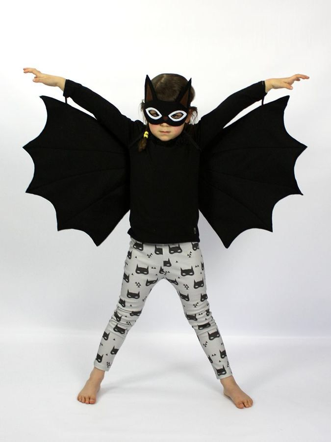 Bat Felt Mask & Wings Costume Set