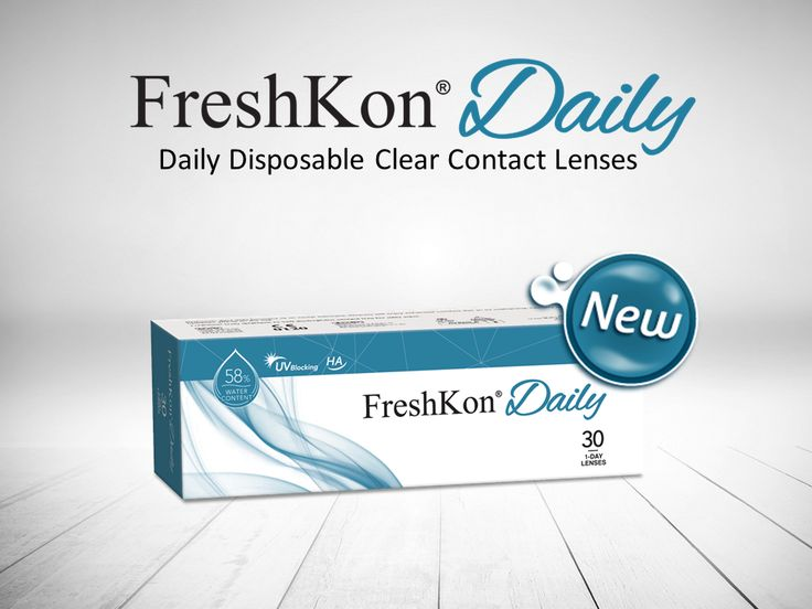Here's a sneak peek of the NEW FreshKon Daily disposable clear contact lenses! Stay tuned on our social media pages for updates!      https://www.popularlens.com/